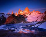 Monte Fitz Roy Alpenglow print