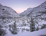Ouray Winter Morning print