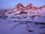 Tetons Winter Sunset print