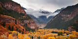 Ouray Stormy Autumn Panorama print