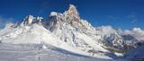 Pale di San Martino Winter Panorama print