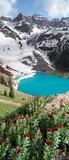 Blue Lake Vertical Panorama print
