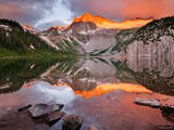 Snowmass Lake Alpenglow Reflection 2 print