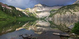 Snowmass Lake Reflection Panorama print