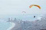 Paragliding Over Iquique print