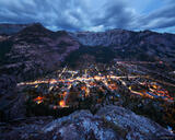 Ouray Dusk Lights print