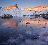 Ice Lakes Icy Sunrise print