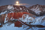 Red Mountain Moonrise print