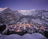 Winter Twilight over Ouray print