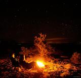 Bonfire Under the Stars print