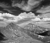 Matterhorn & Uncompahgre BW print