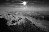 Zugspitze Moonlight B&W print