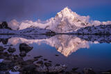 Ama Dablam Alpenglow Reflection #1 print
