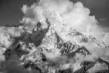 Ama Dablam Clouds B&W #2 print