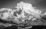 Ama Dablam Clouds B&W print