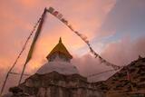Stupa Sunset print