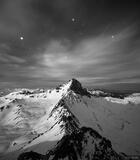 Wetterhorn Stars B&W print