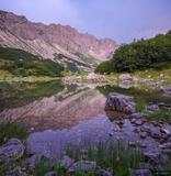 Skrcko Jezero Dusk Reflection print