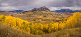 Mt Crested Butte Autumn Panorama print