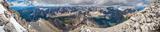 Mount Temple Summit Panorama print