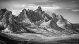 Tombstone Mountain BW print
