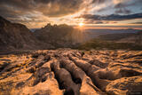 Limestone Sunset print