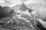Misty Macchu Picchu B&W print