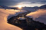 Snowy Sunstream print