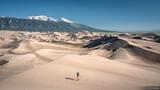 Hiking Through the Dunes print