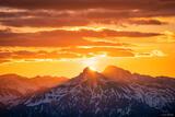 Sunrise Behind Wetterhorn Peak print
