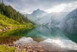 Snowmass Lake Sunbeam Reflection print