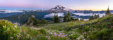Glacier Peak Sunset Panorama print