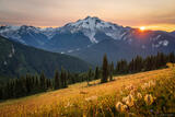 Glacier Peak Smoky Sunset print