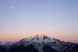 Glacier Peak Sunrise Moon print