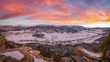 Pleasant Valley Winter Sunset print