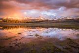 Sneffels Range Sunset Reflection print