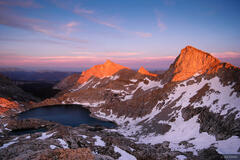 Sawtooth Peak, sunset, Sequoia National Park, Sierra Nevada, California