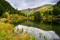 Lizard Lake, reflection, Crystal, Colorado