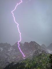 Lightning bolt, Needle Mountains, Colorado