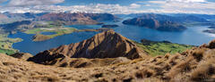 Lake Wanaka, Roys Peak, Southern Alps, panorama, New Zealand