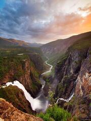 Vøringfossen, Eidfjord, Norway, waterfall, Hardangervidda