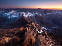 Mt. Sneffels, sunset, San Juan Mountains, Colorado
