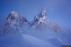 Cimon della Pala, Dolomites, Italy, winter