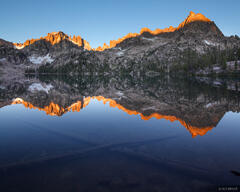 Baron Lake, blue, reflection, Sawtooth Mountains, Idaho