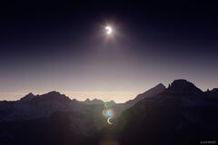 solar eclipse, Mt. Sneffels, San Juan Mountains, Colorado