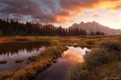 San Juan Mountains, Weminuche Wilderness, Colorado, sunset