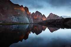 Needle Mountains, Weminuche Wilderness, San Juan Mountains, Colorado, sunrise