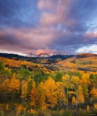 Dolores Peak, Telluride, San Juan Mountains, Colorado, aspens, September, Fall Creek