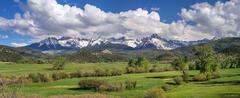 Mt. Sneffels, Double RL, ranch, Ridgway, Colorado,San Juan Mountains,Sneffels Range, panorama