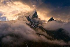 Taboche Peak Sunset